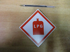 "100mm ""LPG"" warning decal / sticker self-adhesive  - Van 