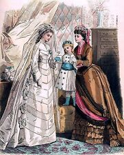 Victorian Wedding 2~counted cross stitch pattern #249~People Brides Graph Chart