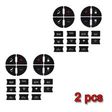 2x AC Button Repair Dash Replacement Black For 07-13 GM Vehicles Decal Stickers