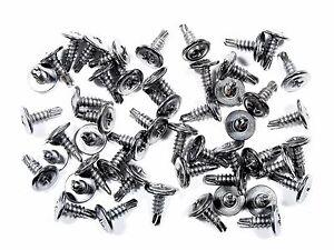 Ford Truck Chrome Wheel Well Trim Screws- Self Tap Washer Head - Qty.50- #230F