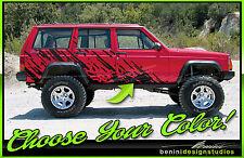1984-2001 Jeep Cherokee Sport Country Wagoneer Mud Splash Graphics Decals