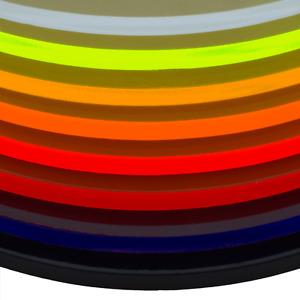 100mm x 150mm x 3mm, rot fluoreszierend fluoreszierend in unterschiedlichen Farben in-outdoorshop Plexiglas/® Zuschnitt Acrylglas Platte