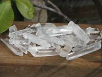 Polished Clear Quartz Crystal Points & Pieces x 10  - Omni New Age