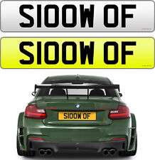 SLOW OFF SARCASTIC CHEEKY NAUGHTY GTR BMW M3 M2 S3 RS6 AMG PRIVATE NUMBER PLATE