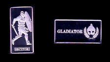 ★★★★ JOLIE MEDAILLE EN PLAQUE ARGENT ● GLADIATEUR / GLADIATOR ● SECUTOR ★★★★
