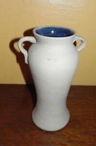 "EARLY Bauer Pottery Stoneware 2 Tone 10"" Handcrafted Matt Carlton Rebekah Vase"
