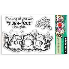 New Penny Black PURR-FECTLY SWEET Mini Clear Stamp Love Friends Cats Valentines