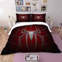 Spider Red Duvet Cover Set For Comforter Twin/Queen/King Size Bedding Set Red US