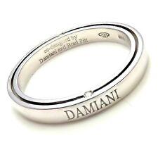 Rare! Authentic Damiani Brad Pitt Platinum 4 Diamond 3mm Band Ring Sz 9.25