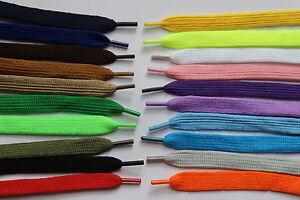 1 Pair Flat Shoelace 20 Colours Boots Trainer Skate Shoe Lacws