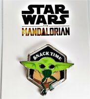 Disney Star Wars The Mandalorian Snack Time Enamel Pin Baby Yoda The Child