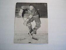 1X KEN REARDON 1945 54 Quaker Oates Photo #107C CANADIENS Home Action Trimmed