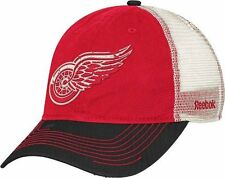 NHL Detroit Red Wings Reebok Slouch Adjustable Meshback Hat