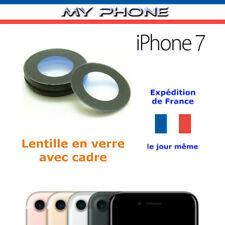 Vitre Caméra Lentille Arrière IPHONE 7 Apple en verre avec cadre appareil Photo