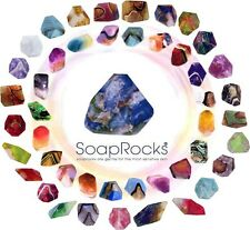 8 Large Soap Rocks-Pick your favorite Summer Colors.ts pink +Free shipping