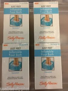 LOT OF 4 - Sally Hansen Just Feet Inflatable Foot Bath NEW