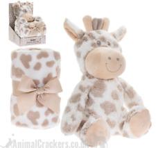 Plush fluffy Giraffe Blanket & Soft Toy Children Baby Christening child Gift Set