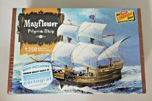 Lindberg Mayflower Pilgrim Ship 1:250 Scale Model Kit #HL215/12 New Sealed Box