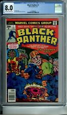 BLACK PANTHER 1 CGC 8.0 NEW CGC CASE JACK KIRBY STORY COVER & ART