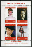 Madagascar 2019 MNH David Bowie 4v M/S Celebrities Famous People Music Stamps