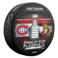 2015 Stanley Cup Playoffs Dueling Puck Montreal Canadiens / Ottawa Senators