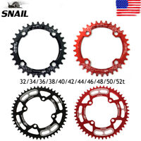 32-52T Round/Oval Narrow Wide Tooth MTB Bike Chainring CNC Single Chainwheels