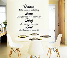 Dance English sentence Home Decor Removable Wall Stickers Decal Decoration