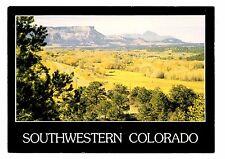 Southwestern Colorado Postcard Mesa Verde Fall Color Mancos Valley Sleeping Ute