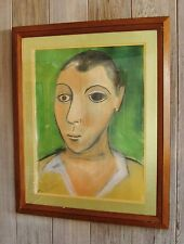 PABLO PICASSO - SELF IMAGE >>> PASTEL<<< FRAMED MATTED & COA >>> SHIPS FREE!