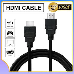 HDMI Cable 5FT 1.5M Bluray 3D DVD PS4 HDTV XBOX LCD HD TV 1080P High Speed Black