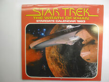 Star Trek Wrath of Khan, Stardate Calendar 1983, Nice Condition