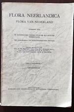 Flora Neerlandica Flora van Nederland GRAMINEAE // par WEEVERS. Amsterdam 1951