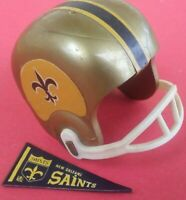 1967 NFL New Orleans SAINTS Vintage mini gumball football helmet Tudor PENNANT 1