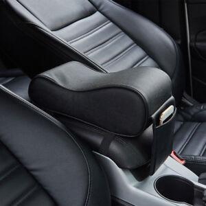 Black Universal Memory Cotton PU Leather Car Console Armrest Cushion Mat Pad Kit