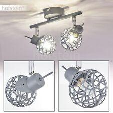 Plafonnier 2 branches Lampe de bureau Lampe de cuisine Lampe à suspension grise