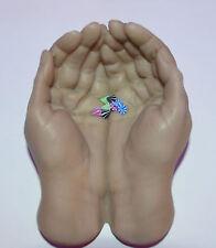 Pointes spike  piercing UV Néon 1.2 x 3 mm  (8) Arcade traguis,lèvre,etc, so3