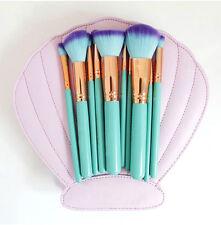 2017 Fashion Brushes Mermaid Dream 10 PCS Vegan Makeup Set Clam Case Shell Type