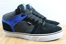Vans Ellis Mid (Suede/Textile) Black/Blue Men's Classic Skate Shoes SIZE 13