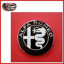 FN Fregio Alfa Romeo Cromo Nero Per Cofano Posteriore  Stemma  Logo  SPIDER