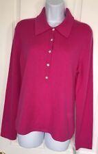 NWT Sutton Studio 100% Cashmere Collared Sweater XL BEAUTEFUL!