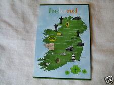 IRISH REPUBLICAN OUTLINE OF IRELAND 32 COUNTIES  POSTCARD COLLECTORS