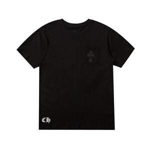 New Italy Pop Style Cross Print Tee Short Sleeve B&W Men's T-Shirts CH1929 M-2XL