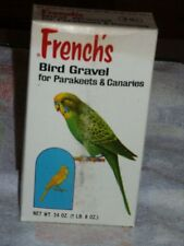 VTG FRENCH'S BIRD GRAVEL Canary Parakeet Budgie Advertising Collectible FULL BOX