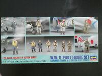 W.W. II Pilot Figure Set, Jap, Ger, Brit,18 F, Hasegawa, Scale: 1/48, Kit:X48-7