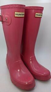 Girls Hunter Rainboots Size 2M/3F Pink Color