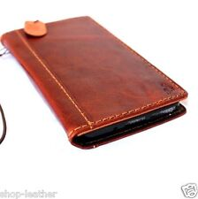 genuine leather hard Case fit HTC ONE M8 book wallet handcraft cover slim luxury