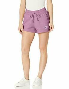 Champion Women's Reverse Weave Shorts sweat Tinted Lavender ll medium hi rise