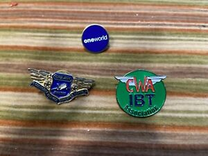 American Airlines One World, CWA/IBT 3 Lapel Pins Teamsters