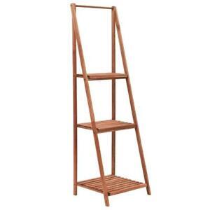 Wooden 3 Tier Ladder Pot Plant Flower Decorative Storage Stand Utility Shelf