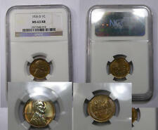 1926-D LINCOLN  MS63RB NGC MOSTLY RED WITH BLUE TONE INV#331-B16